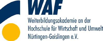 WAF Weiterbildungsakademie an der HfWU Nürtingen-Geislingen - Mitglied im Netzwerk Fortbildung Landkreis Esslingen e.V.