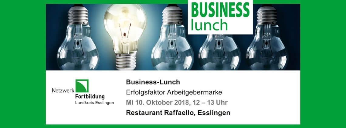 Erfolgsfaktor Arbeitgebermarke: Vortrag von Uwe Loof, PAON GmbH, beim Business-Lunch am 10.10.2018