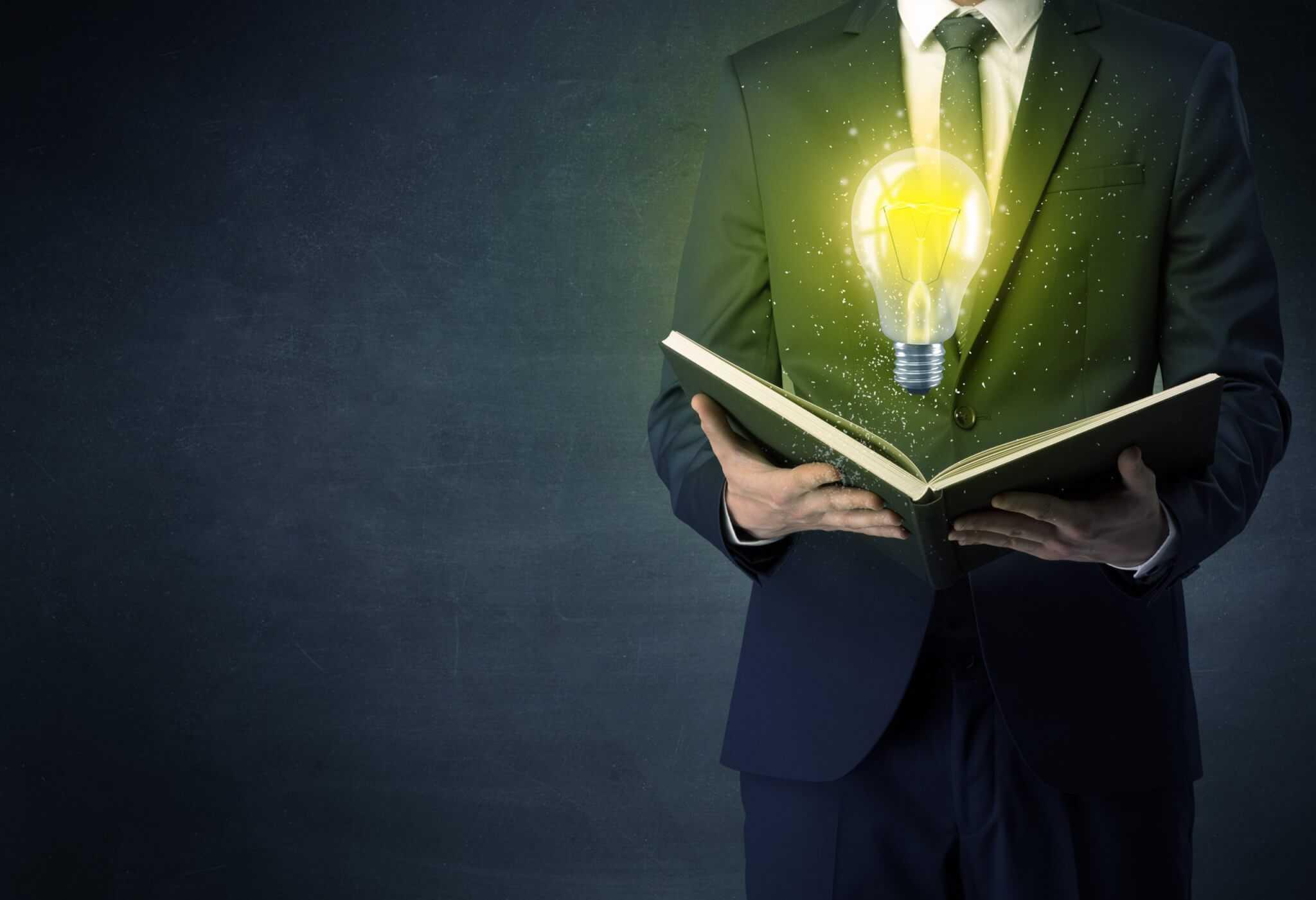 Bildung Erwachsene mit Idee